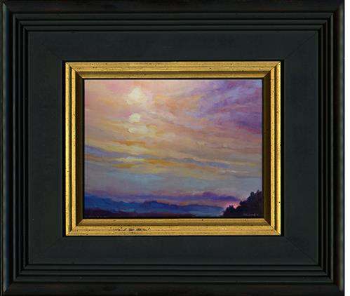 """Blue Ridge Mountains Sunset 1.2"" original fine art by Catherine Twomey"