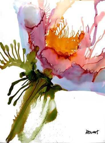 """""""Pink Posey"""" original fine art by Kristen Dukat"""