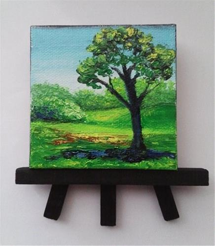 """Landscape Tree Grass"" original fine art by Camille Morgan"