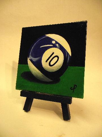"""10 Ball"" original fine art by Jane Palmer"