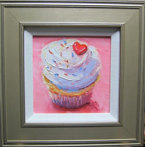 """Cupcake Love"" original fine art by Kathy Bodamer"