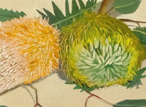 """Australian Natives with Tea"" original fine art by James Dewing"