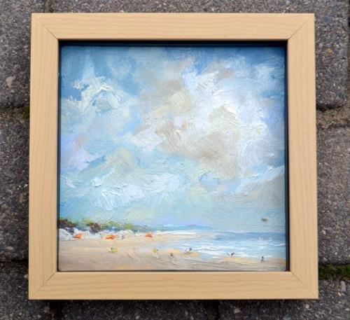 """Beach scene 12 July 2016"" original fine art by Wim Van De Wege"