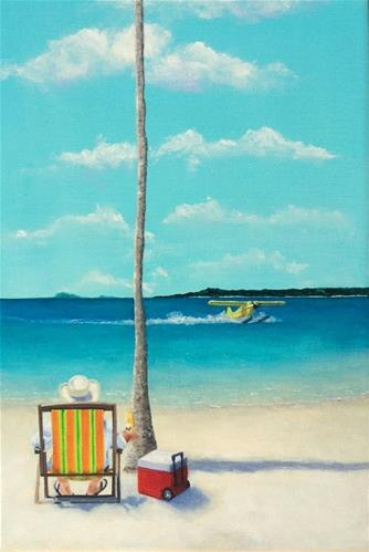 """Somewhere Beach"" original fine art by Wendi Vann Johnson"