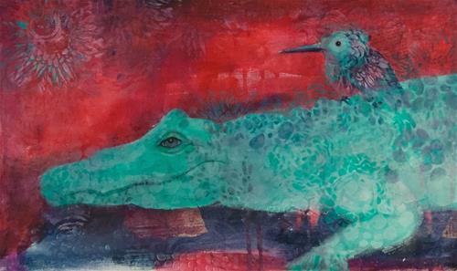 """#37 Travel Companions"" original fine art by Silke Powers"
