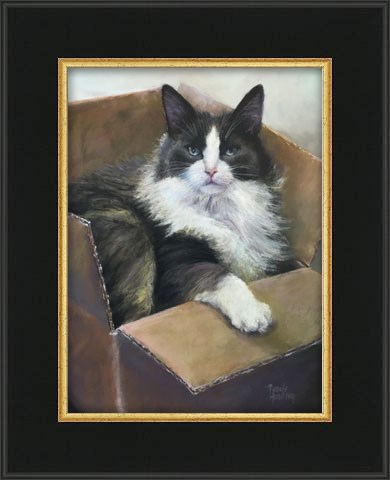 """Cat in the Box"" original fine art by Pamela Hamilton"