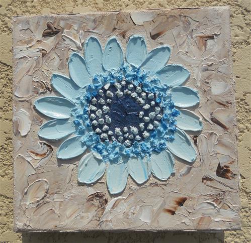"""Blue Daisy"" original fine art by Pamela Ross"