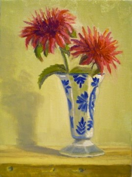 """Red Flower"" original fine art by Judith Anderson"