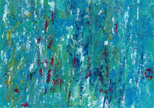 """Teal Abstract II"" original fine art by Donna Vieth"