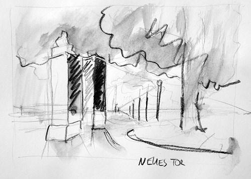 """""""2152 New Gate"""" original fine art by Dietmar Stiller"""