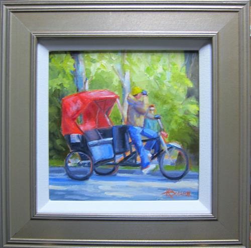 """Central Park Ride"" original fine art by Kathy Bodamer"