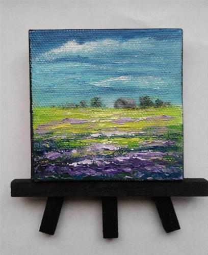 """Mini Lavender Fields"" original fine art by Camille Morgan"