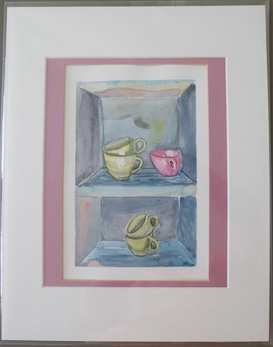 """Cups"" original fine art by Laura Denning"