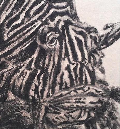 """Lionfish"" original fine art by Camille Morgan"