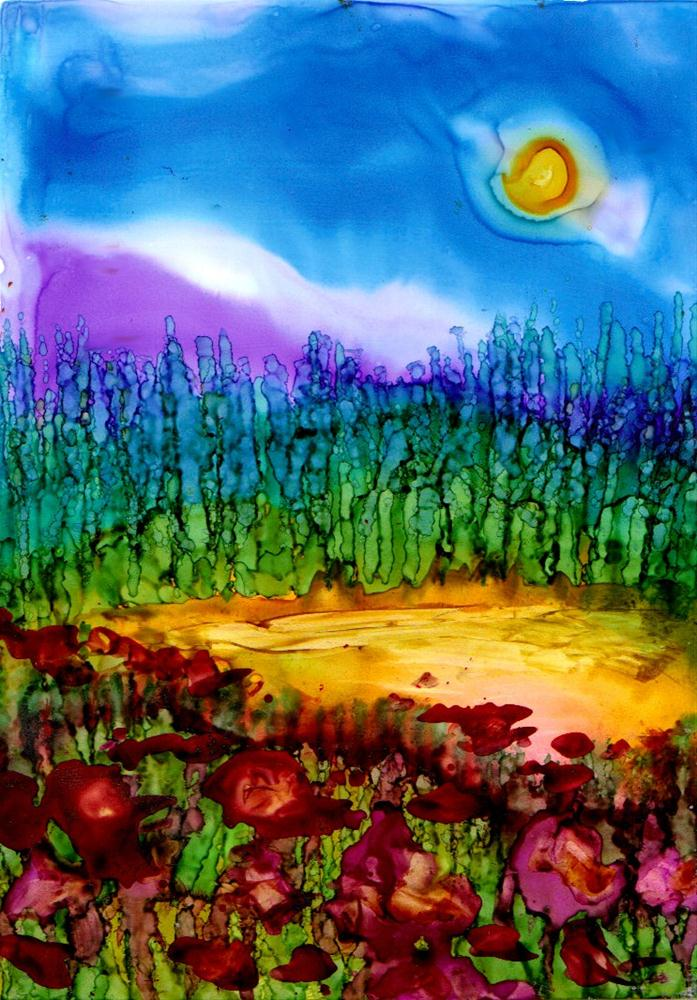 """flower field"" original fine art by Kristen Dukat"
