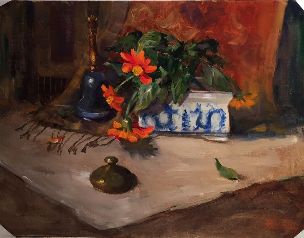 """""""Blue Dragons"""" original fine art by Barbara Fluty"""
