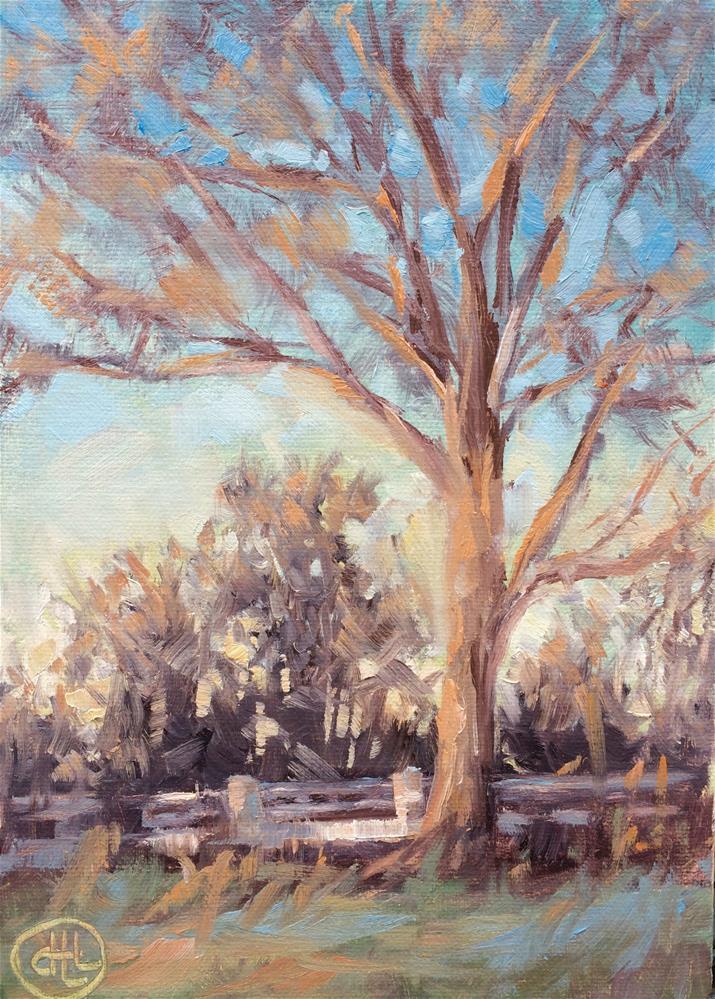 """""""winter twilight"""" original fine art by Dottie  T  Leatherwood"""