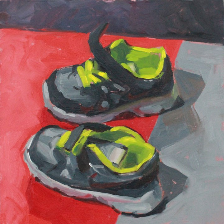 """""""Little Runners"""" original fine art by Nealy May Riley"""