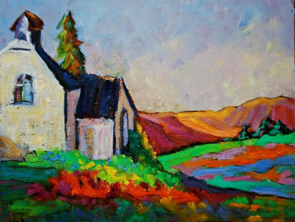 """Rocky Mountain Church"" original fine art by Liz Zornes"
