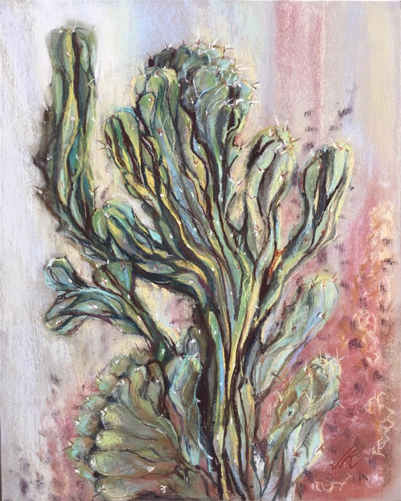 """Symmetric Asymmetry - Cactus"" original fine art by Jean Krueger"