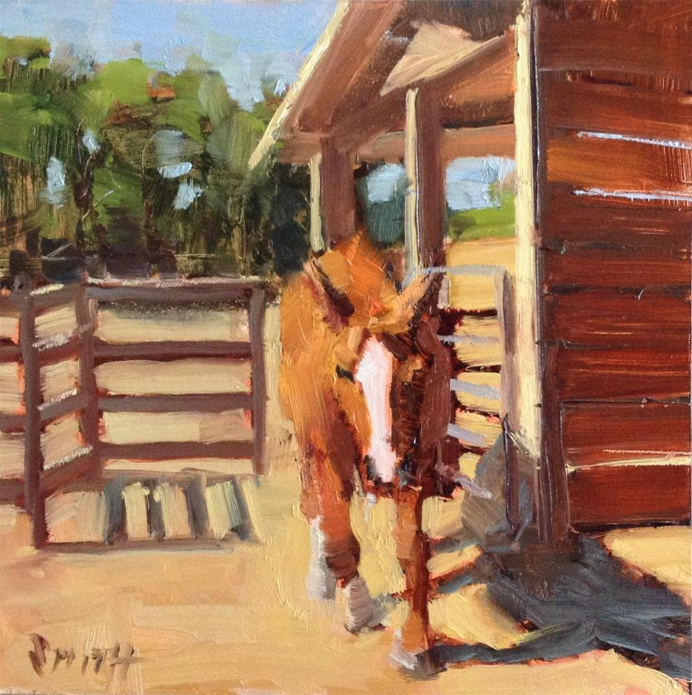 """Coming To Greet You"" original fine art by Barbie Smith"