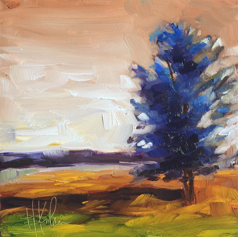 """Seasons of a Tree (4)"" original fine art by Hallie Kohn"