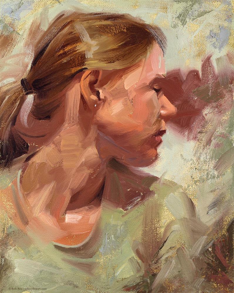 """Looking Back"" original fine art by Rob  Rey"