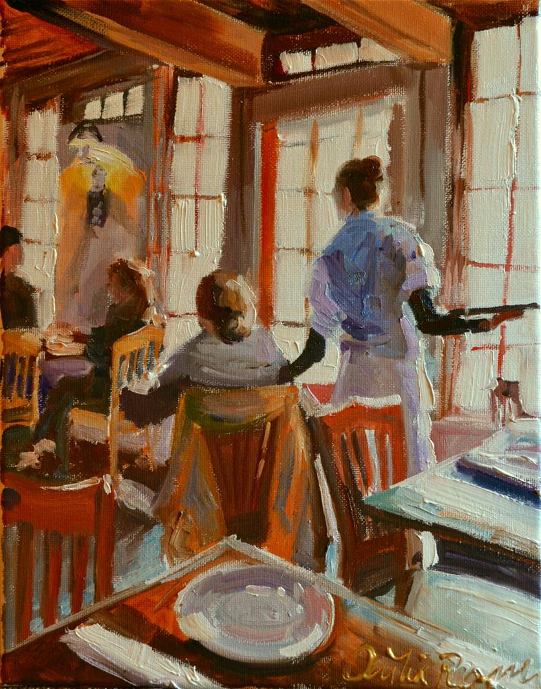 """CAFE RUSTICA LUNCHEON"" original fine art by Cecilia Rosslee"