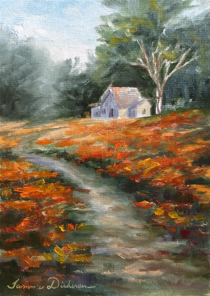 """""""Through the Poppies"""" original fine art by Tammie Dickerson"""