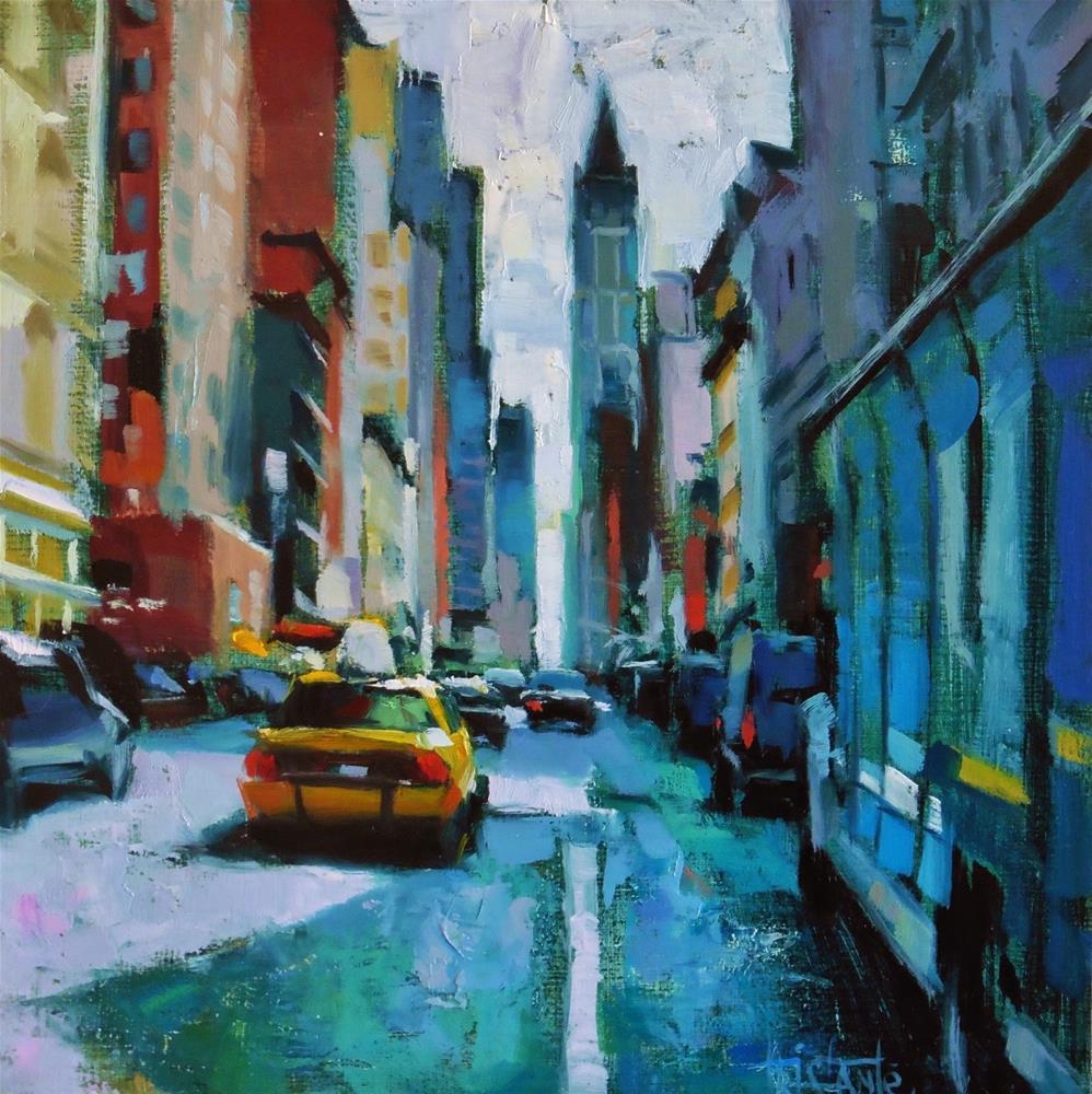 """NY Traffic"" original fine art by Víctor Tristante"