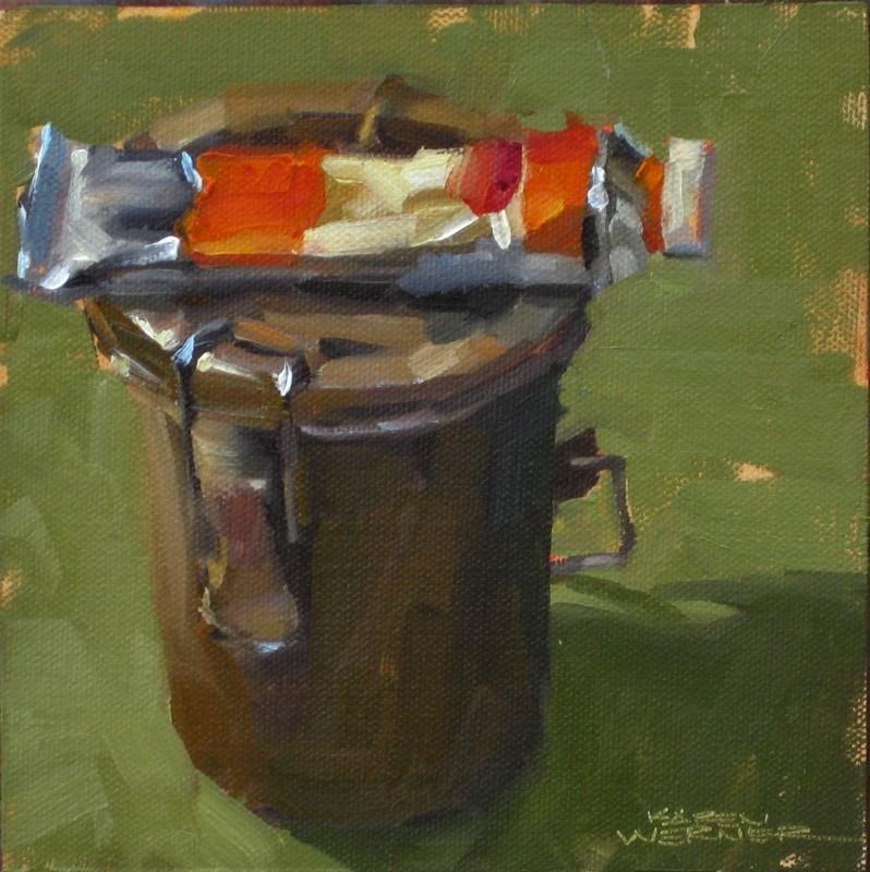 """""""Cad Orange"""" original fine art by Karen Werner"""