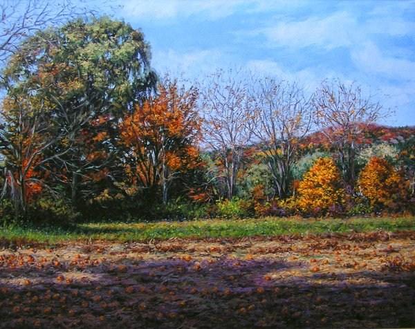 """Pumpkins"" original fine art by Danny O'Leary"