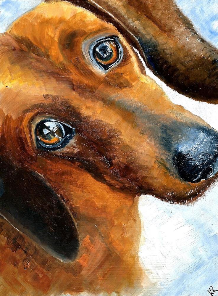 """Pet Selfie No1"" original fine art by Karen Robinson"