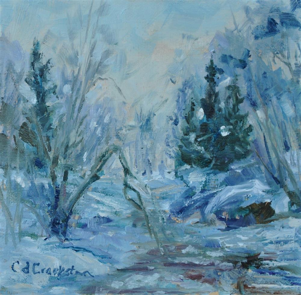 """Cold Winter's Day"" original fine art by Catherine Crookston"