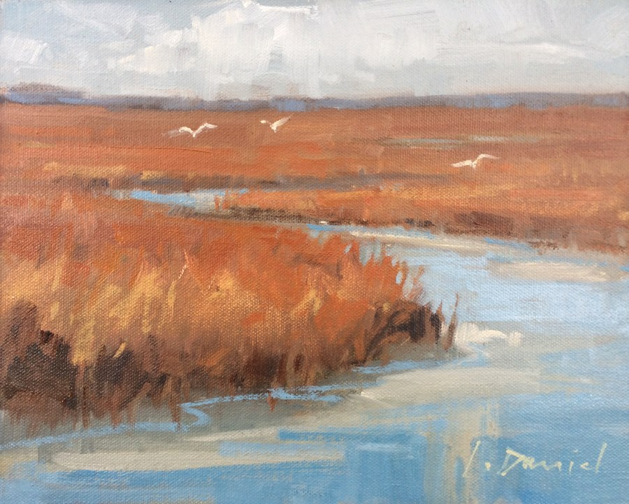 """Morning Marsh"" original fine art by Laurel Daniel"