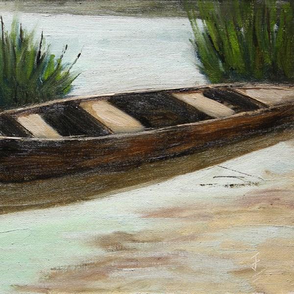 """Beached"" original fine art by Jane Frederick"