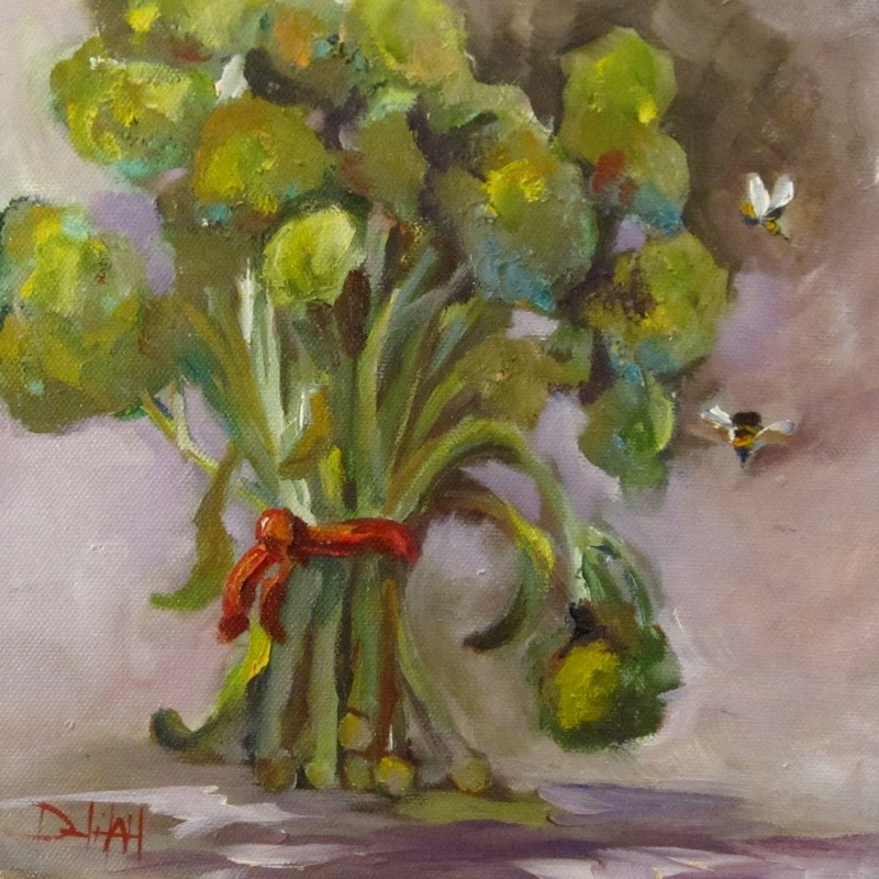 """Fresh Broccoli"" original fine art by Delilah Smith"