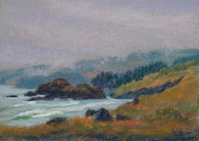 """Foggy Day"" original fine art by Sharon Lewis"