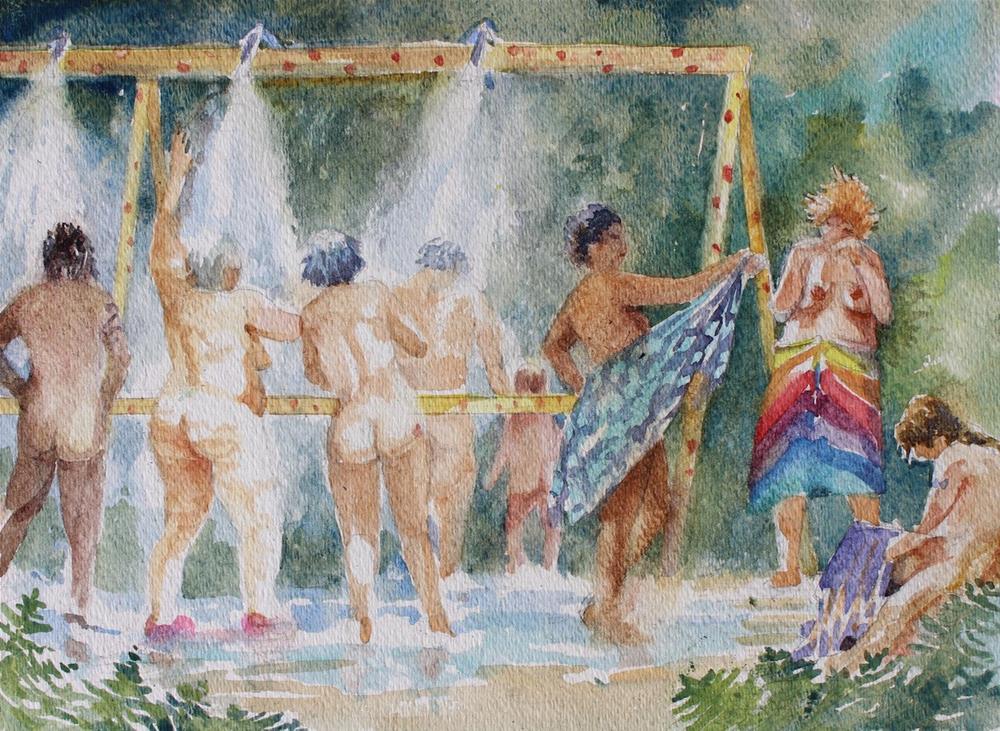 """Shower Study"" original fine art by Cedar Kindy"