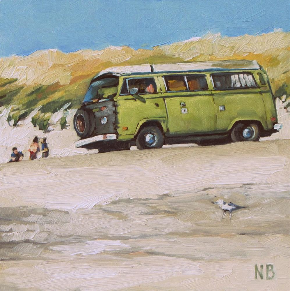 """Don't Miss the Bus"" original fine art by Nora Bergman"