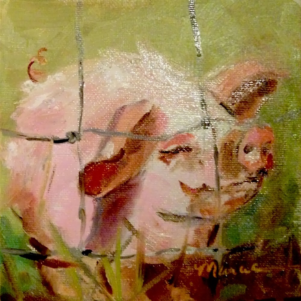 """""""Don't Fence Me In"""" original fine art by Marcia Hodges"""