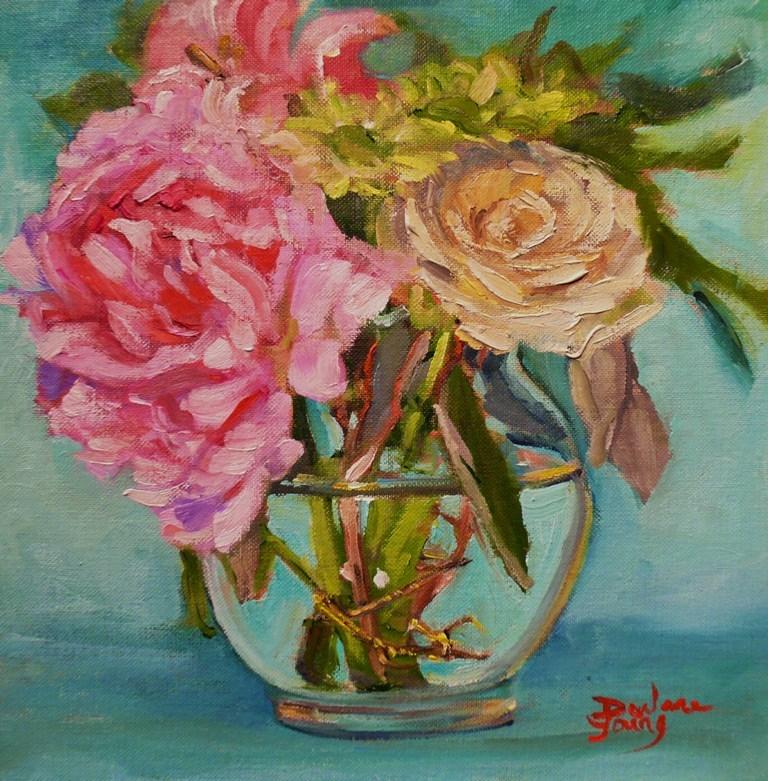 """658 Empress Bouquet"" original fine art by Darlene Young"