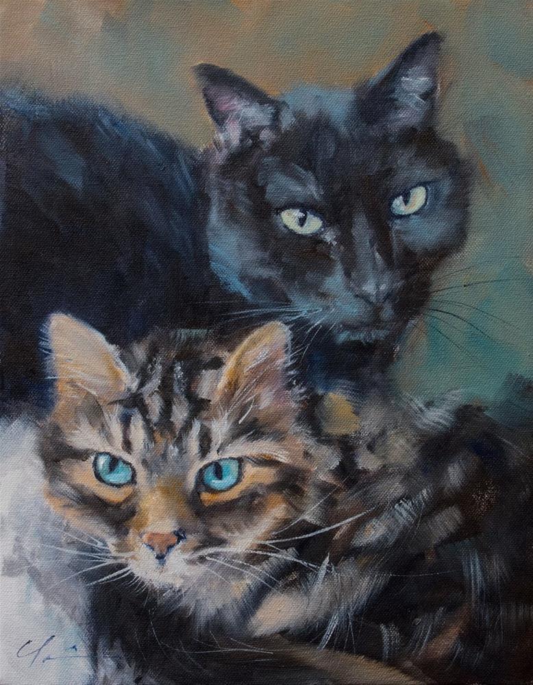 """""""Chloe and Milton"""" original fine art by Clair Hartmann"""