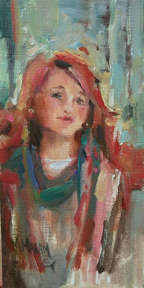 """Redhead"" original fine art by Mary Maxam"