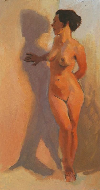 """Standing twist"" original fine art by Peter Orrock"