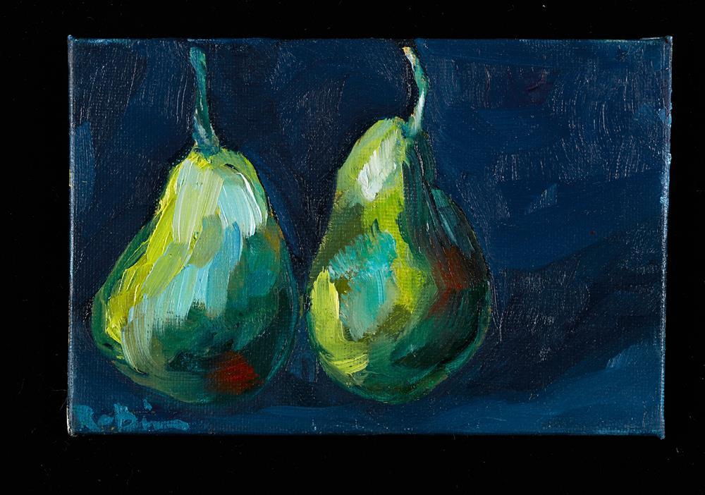"""Floating Pears, Modern"" original fine art by Renee Robison"