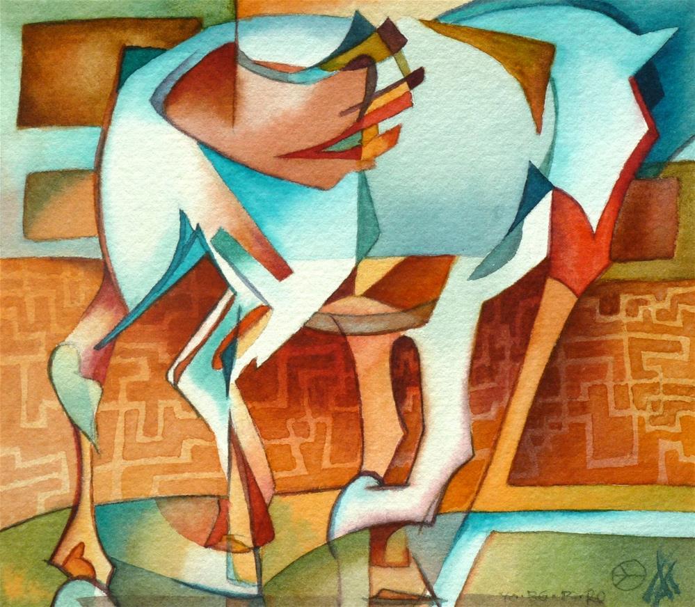"""Bucephalus, Alexander's War Horse"" original fine art by Mark Allison"