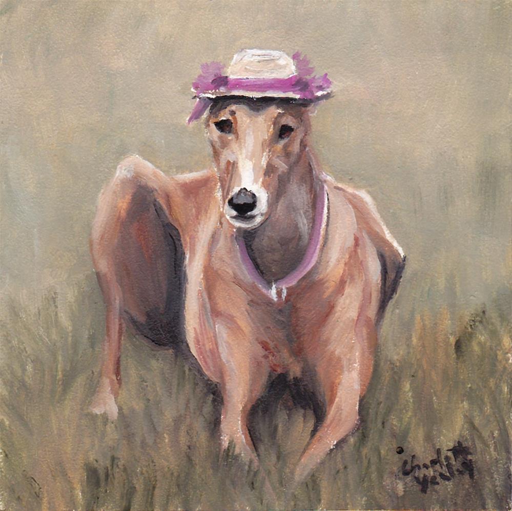 """Little Lady Greyhound"" original fine art by Charlotte Yealey"