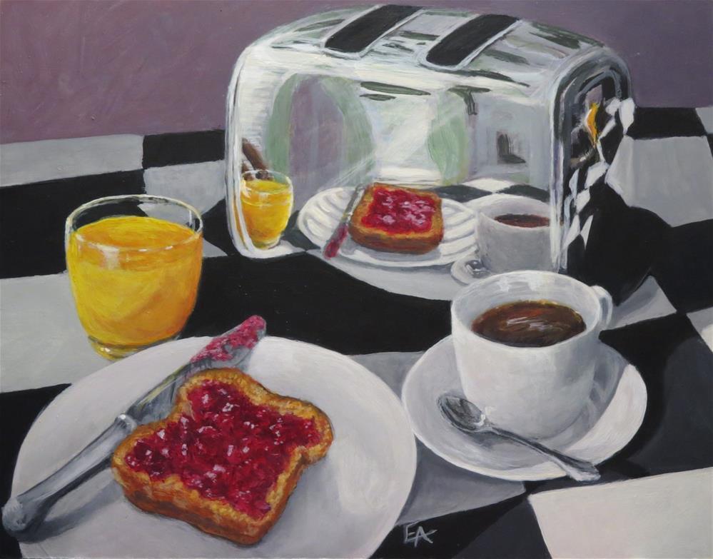 """""""Breakfast Reflections"""" original fine art by Elizabeth Elgin"""