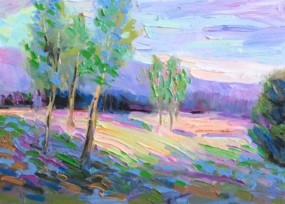 """Dappled Light"" original fine art by Charlotte Fitzgerald"